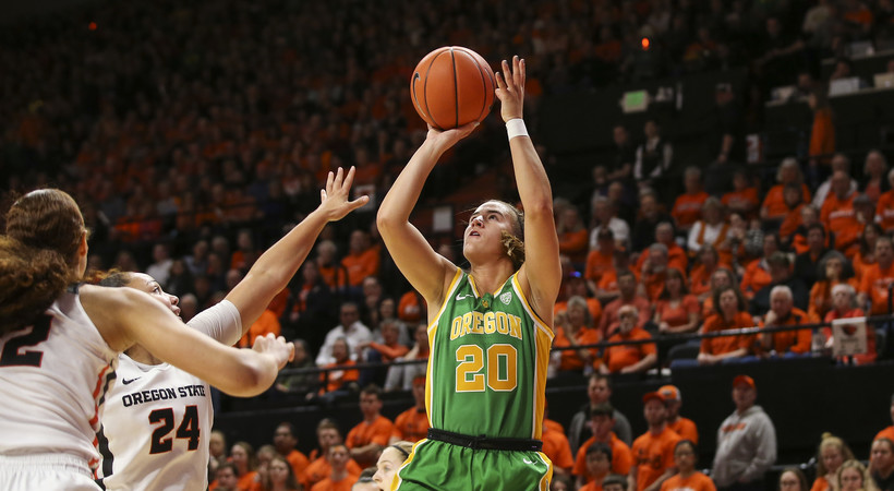 Highlights: No. 4 Oregon women's basketball sweeps Civil War series with first win at Oregon State since 2010