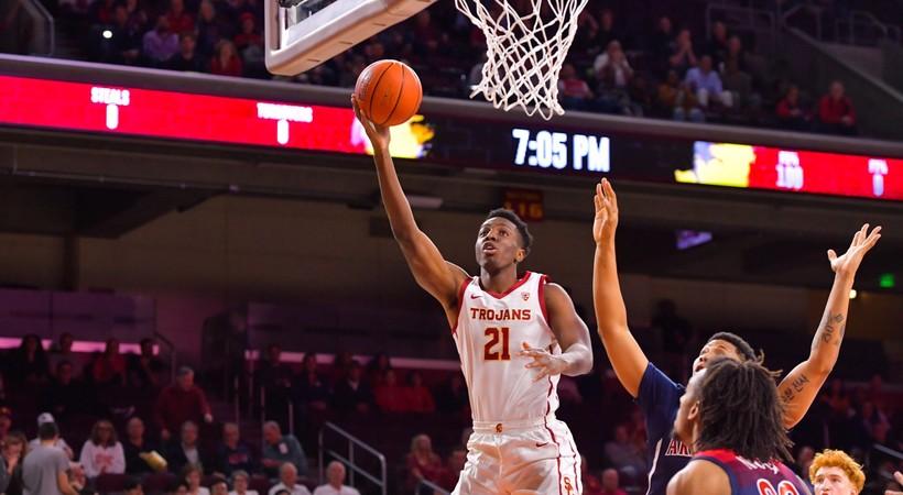 Highlights: Onyeka Okongwu records 11th double-double as USC men's basketball holds off Arizona