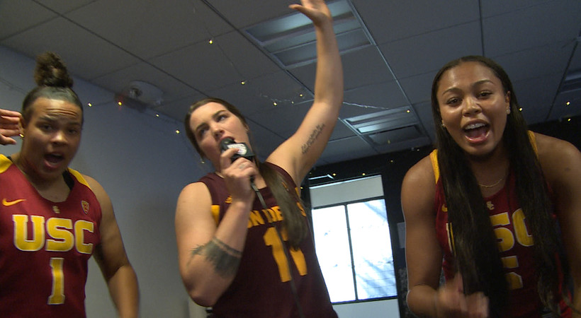 Sun Devils, Trojans, Beavers team up for Backstreet Boys karaoke at Pac-12 Women's Basketball Media Day