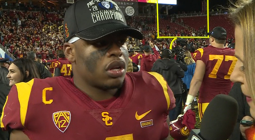 USC's Chris Hawkins dedicates Pac-12 Championship win to late grandmother