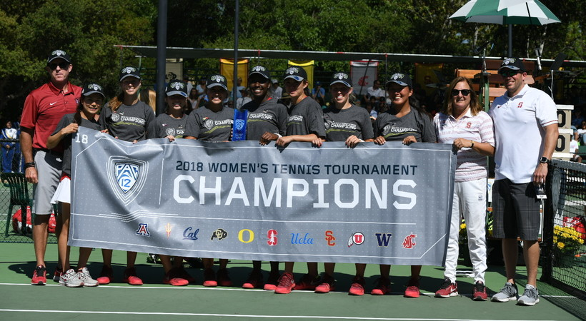 2018 Pac-12 Women's Tennis Champions Stanford