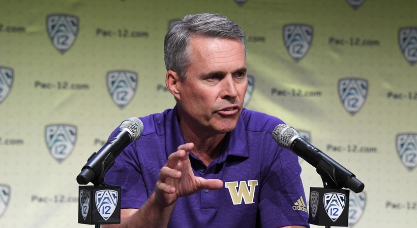 2019 Pac-12 Football Media Day: Washington's Chris Petersen talks about preseason preparation ahead of camp