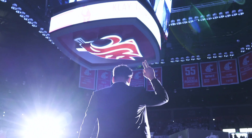 Inside Klay's Day: Klay Thompson's memorable return to Pullman for his jersey retirement