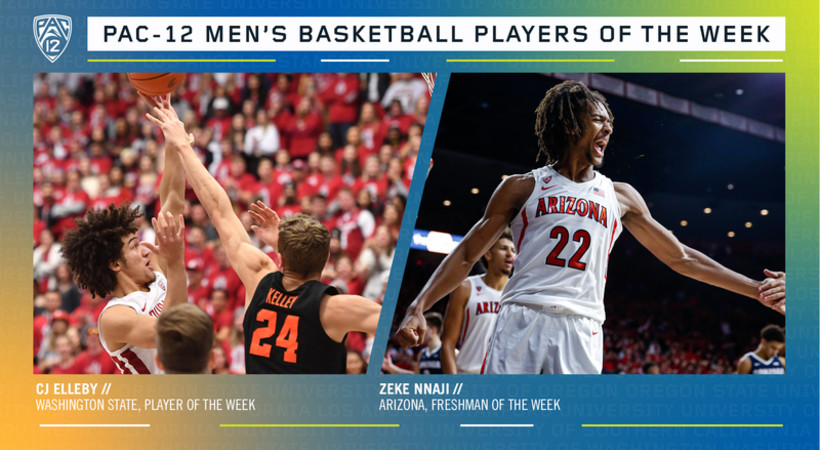 Pac-12 Men's Basketball Players of the Week 1/20/20
