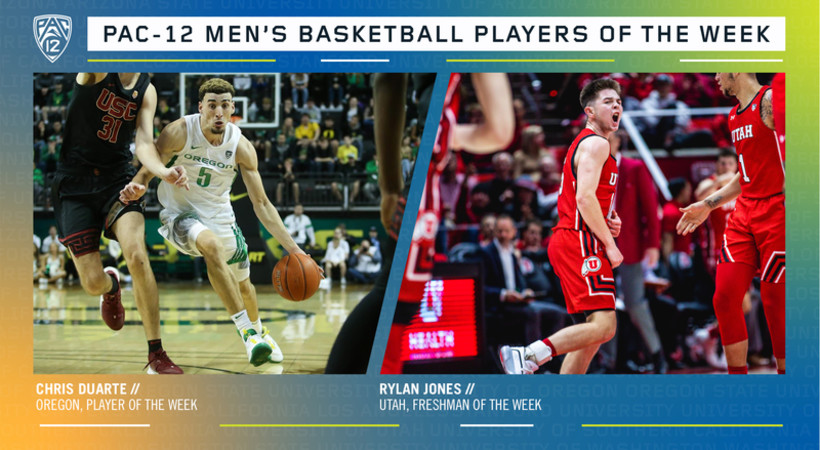 Pac-12 Men's Basketball Players of the Week 1/27/20