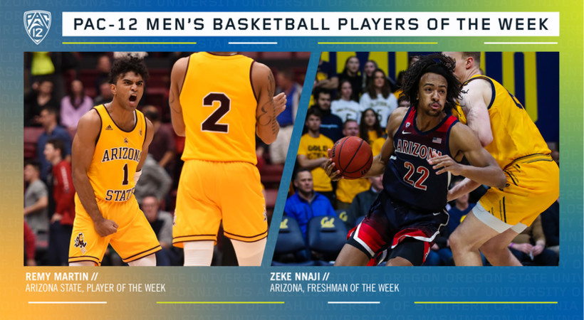 Pac-12 Men's Basketball Players of the Week 2/17/20