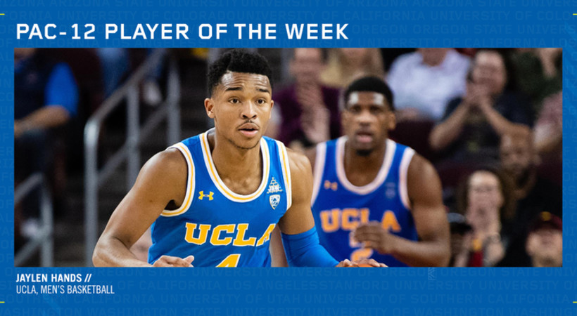 reputable site 5a778 085ac UCLA's Hands lands Pac-12 Men's Basketball Player of the ...