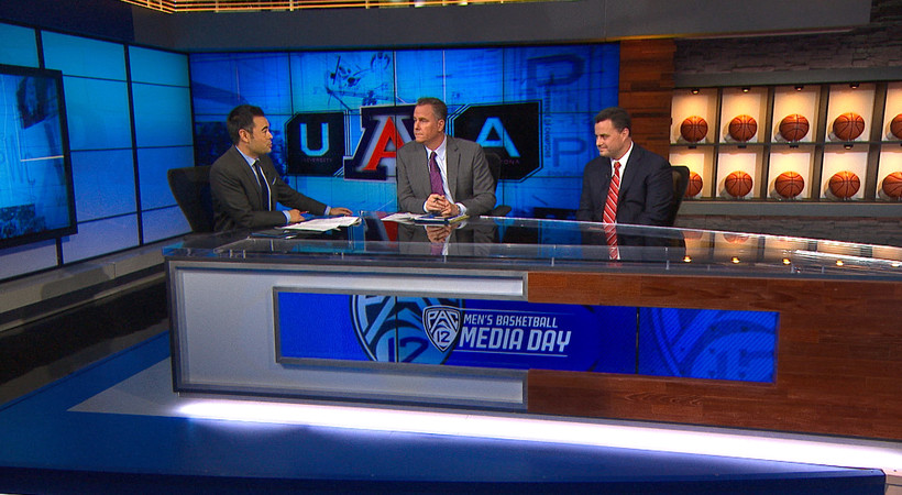 2017 Pac-12 Men's Basketball Media Day: Arizona's Sean Miller supports investigations