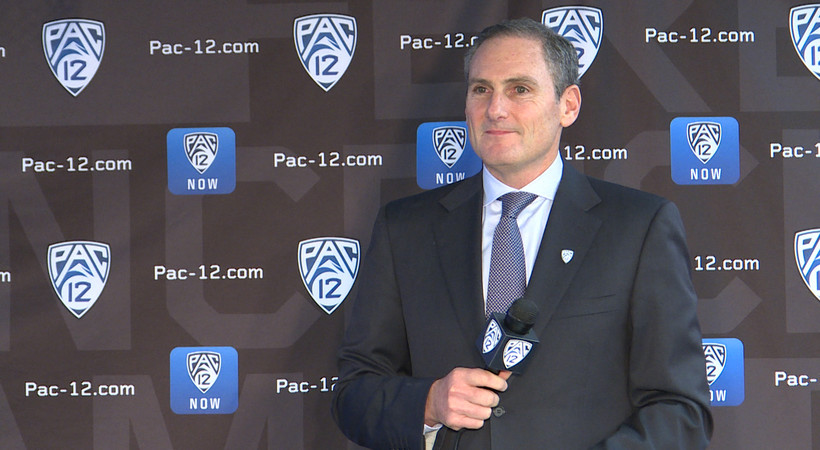 2018 Pac-12 Men's Basketball Media Day: Pac-12 Commissioner Larry Scott