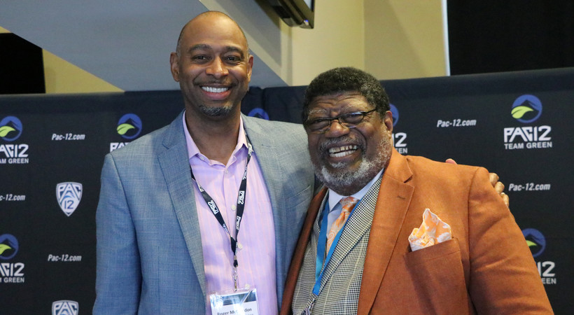 Roger McClendon (left) and his father, Dr. John McClendon (right), highlighted a series of panels at the 2019 Pac-12 Sustainability Conference