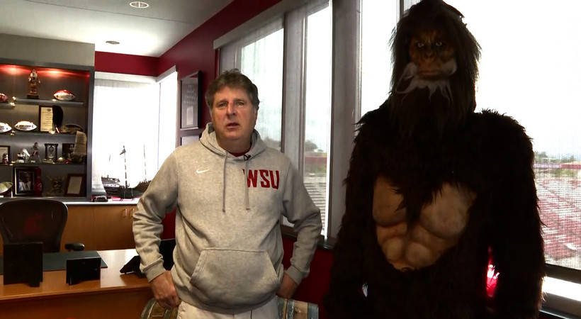 Inside Mike Leach's office: How a Sasquatch, Pirate and Cougar all call it home
