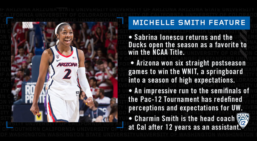 Michelle Smith Pac-12 WBB Feature: Pac-12 Women's Basketball Media Day Notebook