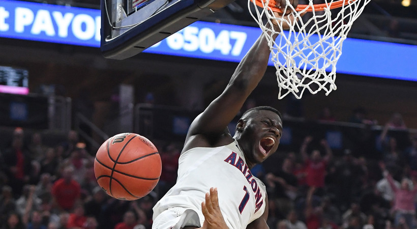 Highlight: Rawle Alkins throws down massive dunk against USC in Pac-12 Tournament title game