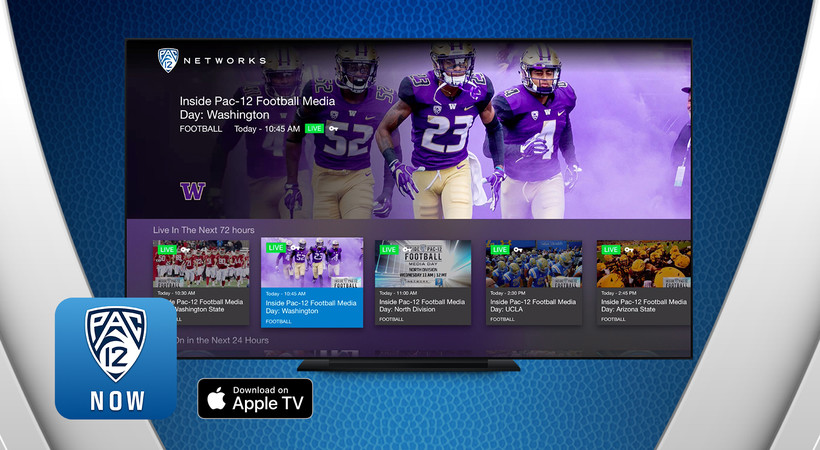 Pac-12 Now available on Apple TV starting this week
