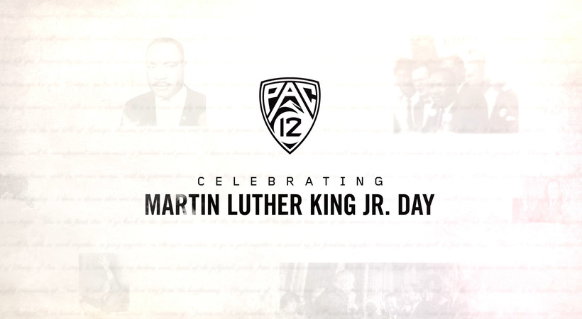 OSU's Isaiah Hodgins and ASU's Rob Edwards celebrate Martin Luther King Jr. Day