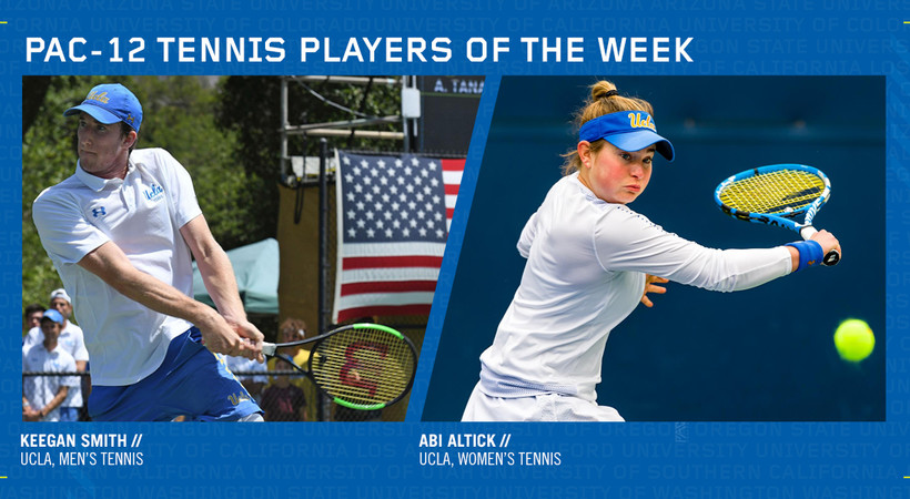 0559a2c3fccb Pac-12 Men's Tennis Player of the Week: Keegan Smith, So., UCLA (San Diego,  Calif.) • Smith, the nation's No. 37 ranked singles player, helped No. 14  UCLA ...