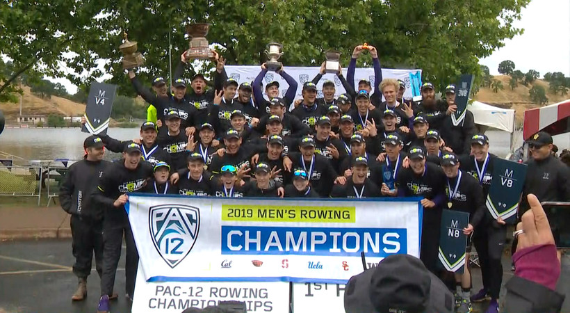 Washington men's rowing takes home the Pac-12 Championship title for the third year in a row
