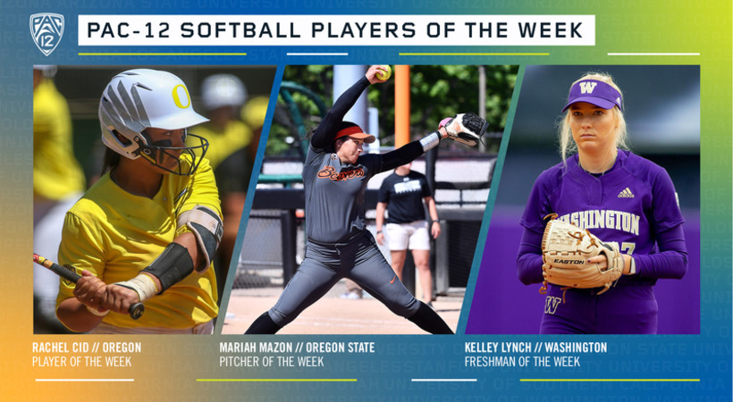 Pac-12 announces softball players of the week
