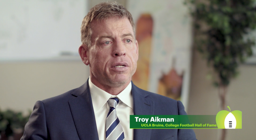 Extra Yard for Teachers: UCLA alum Troy Aikman on an important teacher in his life, Jean Froman