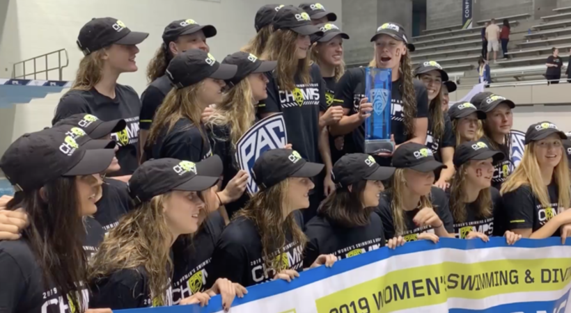 2019 Pac-12 Swimming (W) & Diving (M/W) Championships: Stanford women celebrate three-peat