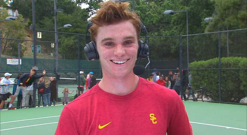 2019 Pac-12 Tennis Championships: USC's Jake Sands talks overcoming adversity throughout season, staying focused during final match to help Trojans clinch Pac-12 Championship title
