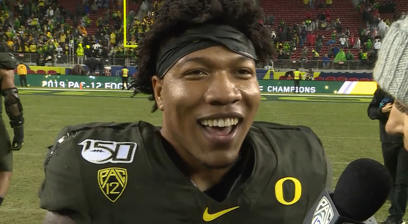 CJ Verdell reflects on dominant performance in Pac-12 title game: 'We all executed'