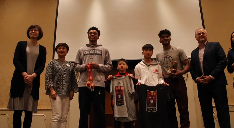 2019 Pac-12 China Game: Arizona State, Colorado visit with children of the Yao Ming Foundation