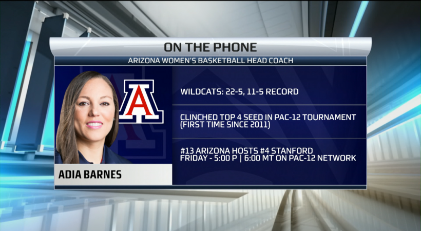Arizona's Adia Barnes on top-15 matchup with Stanford, Cate Reese's strength off the court
