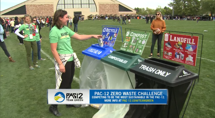 Buffs encourage waste sorting for Pac-12 Zero Waste Challenge