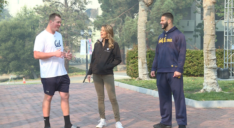 Cal linebackers Evan Weaver and Jordan Kunasyzk explain why the Campanile is their favorite spot on campus