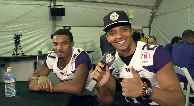 Washington's Ty Jones plays mock reporter in hilarious player-to-player interviews