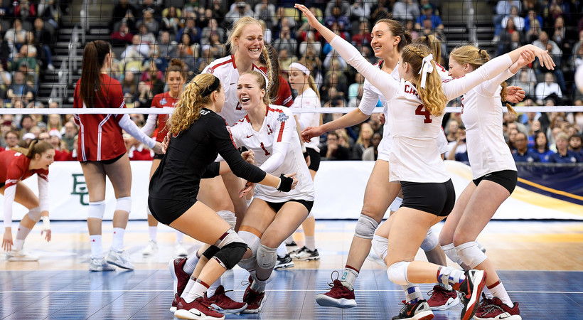 Champs Again! Stanford women's volleyball took home a second straight NCAA title in dominating fashion, sweeping Wisconsin in the title match.