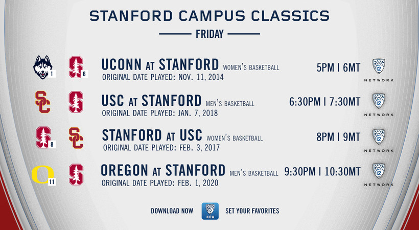 """""""Pac-12 Campus Classics"""" from Stanford, Washington, Arizona and Oregon State to air this weekend on Pac-12 Network"""