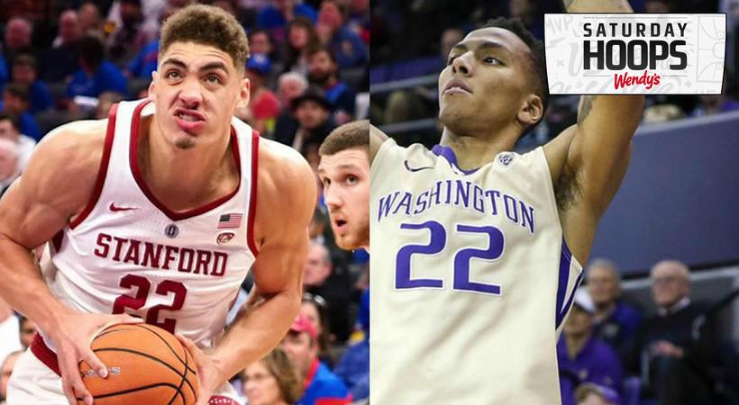 Stanford Cardinal vs Washington Huskies Men's Basketball ...