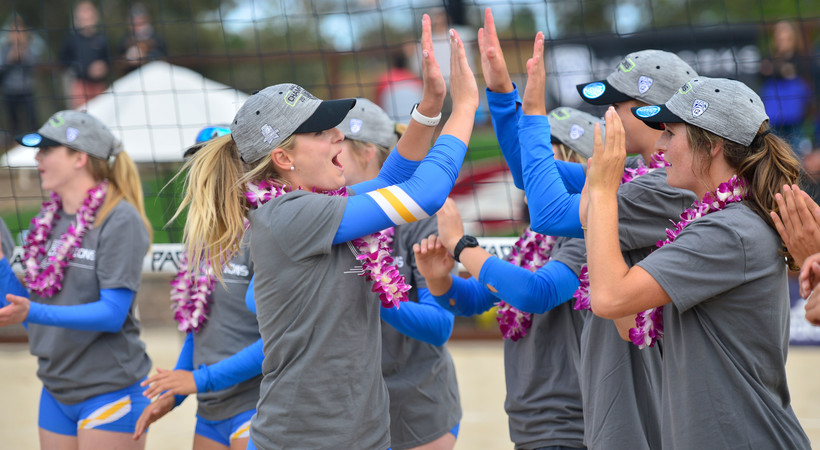 2018 Pac-12 Beach Volleyball Championship: No. 1 UCLA celebrates its first conference title