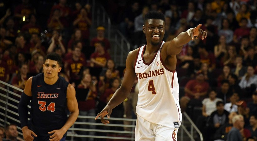Recap: Dynamic USC men's basketball offense rallies to win over Cal State Fullerton