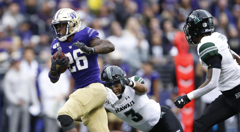 Highlights: No. 23 Washington football bounces back, routs Hawai'i by 32 points