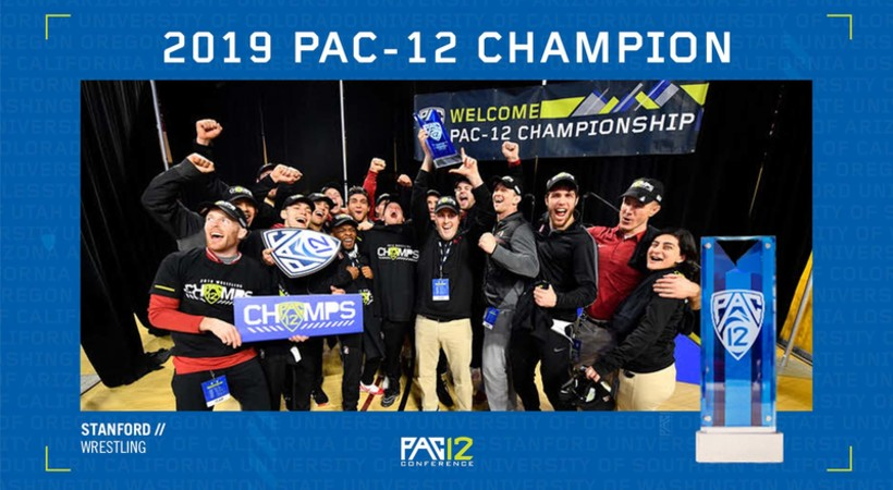 Stanford Captures First Pac-12 Wrestling Title