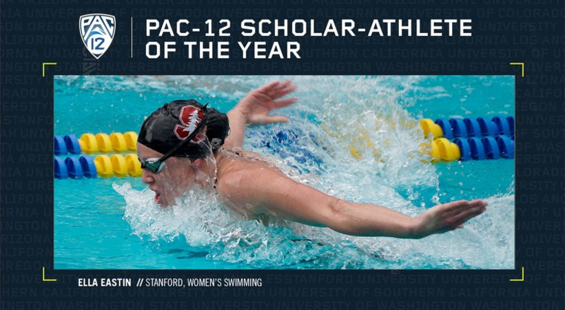 Stanford's Eastin named Pac-12 Women's Swimming and Diving Scholar-Athlete of the Year