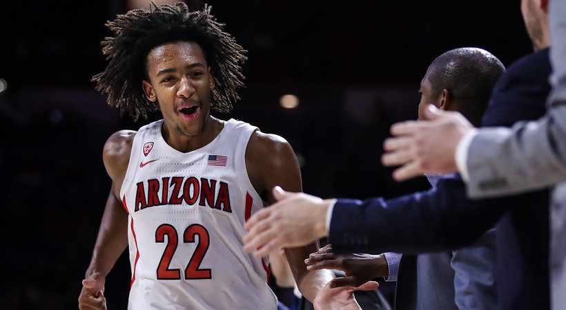 Highlights: Freshmen duo combines for 34 in No. 19 Arizona men's basketball victory over New Mexico State