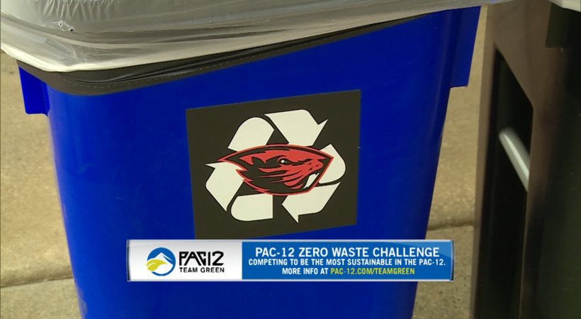 Beavers promote recycling for Pac-12 Zero Waste Challenge