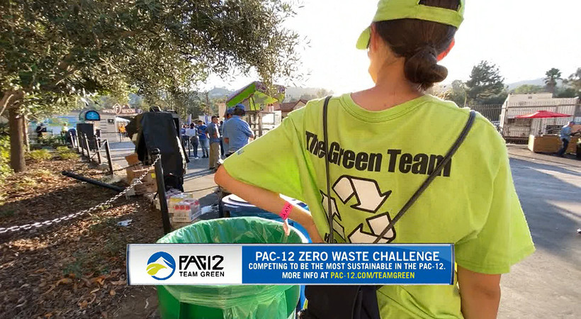 Bruins spotlight sorting process for Pac-12 Zero Waste Challenge