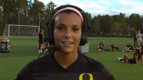 Oregon's Bri Pugh on close women's soccer win against Utah | Pac-12