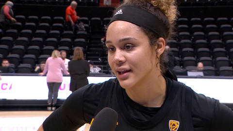 Kianna Ibis on Arizona State holding off a top-10 team in Oregon State: 'We're not letting another one slip'