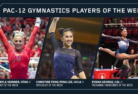 Skinner, Peng-Peng Lee and George kick off 2018 Pac-12 gymnastics weekly honors