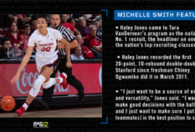 Michelle Smith women's basketball feature on Stanford's Haley Jones