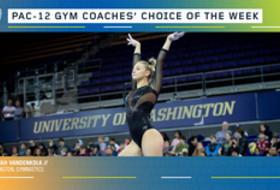 Washington's Vandenkolk earns the gymnastics Coaches' Choice of the Week award
