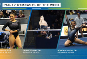 UCLA's Ross, Cal's Watterson and DeSouza secure the Pac-12 gymnasts of the week awards