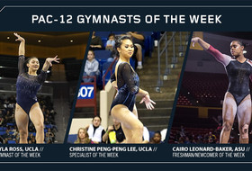 Ross named Pac-12 gymnast of the week, Peng-Peng Lee and Leonard-Baker earn third weekly honor this season