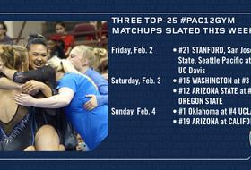 Three top-25 #PAC12GYM matchups slated this week